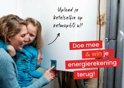 Actie BerkellandEnergie campagne 'Zet 'm op 60!'